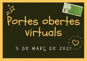 Portes obertes virtuals 2021-2022 (5 de març de 2021)